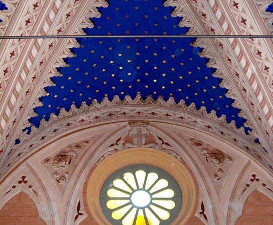 Cappella nobilare privata affresco soffitto e pareti